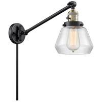 Innovations Lighting 237-BAB-G172 Fulton 35 inch 60 watt Black Antique Brass Swing Arm Wall Light Franklin Restoration
