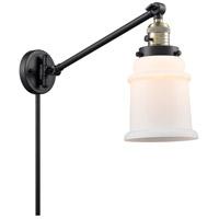 Innovations Lighting 237-BAB-G181-LED Canton 18 inch 3.5 watt Black Antique Brass Swing Arm Wall Light Franklin Restoration