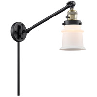 Innovations Lighting 237-BAB-G181S-LED Small Canton 35 inch 3.5 watt Black Antique Brass Swing Arm Wall Light Franklin Restoration