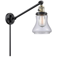 Innovations Lighting 237-BAB-G192-LED Bellmont 35 inch 3.5 watt Black Antique Brass Swing Arm Wall Light Franklin Restoration