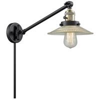 Innovations Lighting 237-BAB-G2 Halophane 21 inch 60 watt Black Antique Brass Swing Arm Wall Light Franklin Restoration