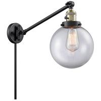 Innovations Lighting 237-BAB-G202-8 Large Beacon 21 inch 60 watt Black Antique Brass Swing Arm Wall Light Franklin Restoration