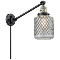 Innovations Lighting 237-BAB-G262 Stanton 30 inch 60 watt Black Antique Brass Swing Arm Wall Light Franklin Restoration