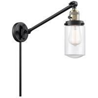 Innovations Lighting 237-BAB-G312 Dover 30 inch 60 watt Black Antique Brass Swing Arm Wall Light Franklin Restoration