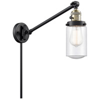 Innovations Lighting 237-BAB-G314 Dover 30 inch 60 watt Black Antique Brass Swing Arm Wall Light Franklin Restoration