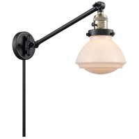 Innovations Lighting 237-BAB-G321 Olean 18 inch 60 watt Black Antique Brass Swing Arm Wall Light Franklin Restoration