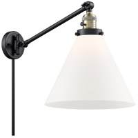 Innovations Lighting 237-BAB-G41-L X-Large Cone 16 inch 60 watt Black Antique Brass Swing Arm Wall Light Franklin Restoration