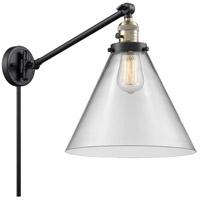 Innovations Lighting 237-BAB-G42-L X-Large Cone 16 inch 60 watt Black Antique Brass Swing Arm Wall Light Franklin Restoration