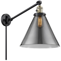 Innovations Lighting 237-BAB-G43-L X-Large Cone 16 inch 60 watt Black Antique Brass Swing Arm Wall Light Franklin Restoration