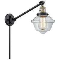 Innovations Lighting 237-BAB-G532 Small Oxford 30 inch 60 watt Black Antique Brass Swing Arm Wall Light Franklin Restoration