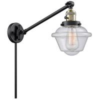 Innovations Lighting 237-BAB-G534 Small Oxford 30 inch 60 watt Black Antique Brass Swing Arm Wall Light Franklin Restoration