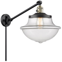 Innovations Lighting 237-BAB-G542 Large Oxford 20 inch 60 watt Black Antique Brass Swing Arm Wall Light Franklin Restoration