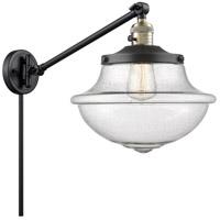 Innovations Lighting 237-BAB-G544 Large Oxford 20 inch 60 watt Black Antique Brass Swing Arm Wall Light Franklin Restoration