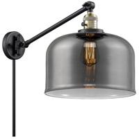 Innovations Lighting 237-BAB-G73-L X-Large Bell 12 inch 60 watt Black Antique Brass Swing Arm Wall Light Franklin Restoration