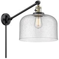 Innovations Lighting 237-BAB-G74-L X-Large Bell 12 inch 60 watt Black Antique Brass Swing Arm Wall Light Franklin Restoration