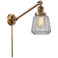 Innovations Lighting 237-BB-G142 Chatham 35 inch 60 watt Brushed Brass Swing Arm Wall Light Franklin Restoration