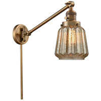 Innovations Lighting 237-BB-G146 Chatham 35 inch 60 watt Brushed Brass Swing Arm Wall Light Franklin Restoration
