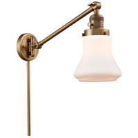 Innovations Lighting 237-BB-G191-LED Bellmont 35 inch 3.5 watt Brushed Brass Swing Arm Wall Light Franklin Restoration