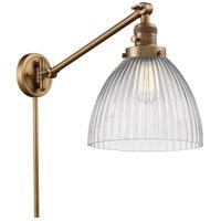 Innovations Lighting 237-BB-G222-LED Seneca Falls 18 inch 3.5 watt Brushed Brass Swing Arm Wall Light Franklin Restoration