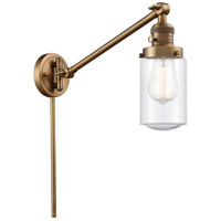 Innovations Lighting 237-BB-G314 Dover 30 inch 60 watt Brushed Brass Swing Arm Wall Light Franklin Restoration