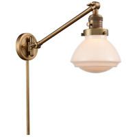 Innovations Lighting 237-BB-G321 Olean 18 inch 60 watt Brushed Brass Swing Arm Wall Light Franklin Restoration