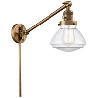 Innovations Lighting 237-BB-G322 Olean 18 inch 60 watt Brushed Brass Swing Arm Wall Light Franklin Restoration