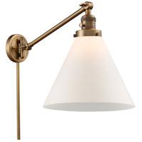 Innovations Lighting 237-BB-G41-L-LED X-Large Cone 16 inch 3.5 watt Brushed Brass Swing Arm Wall Light Franklin Restoration