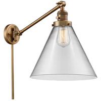 Innovations Lighting 237-BB-G42-L-LED X-Large Cone 16 inch 3.5 watt Brushed Brass Swing Arm Wall Light Franklin Restoration