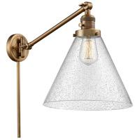 Innovations Lighting 237-BB-G44-L-LED X-Large Cone 16 inch 3.5 watt Brushed Brass Swing Arm Wall Light Franklin Restoration