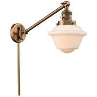 Innovations Lighting 237-BB-G531 Small Oxford 30 inch 60 watt Brushed Brass Swing Arm Wall Light Franklin Restoration