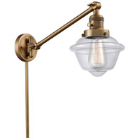 Innovations Lighting 237-BB-G532 Small Oxford 30 inch 60 watt Brushed Brass Swing Arm Wall Light Franklin Restoration