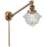 Innovations Lighting 237-BB-G534 Small Oxford 30 inch 60 watt Brushed Brass Swing Arm Wall Light Franklin Restoration