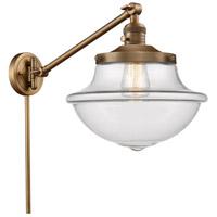 Innovations Lighting 237-BB-G542-LED Large Oxford 20 inch 3.5 watt Brushed Brass Swing Arm Wall Light Franklin Restoration