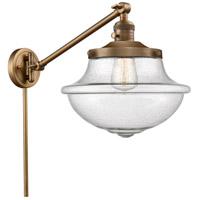 Innovations Lighting 237-BB-G544-LED Large Oxford 20 inch 3.5 watt Brushed Brass Swing Arm Wall Light Franklin Restoration