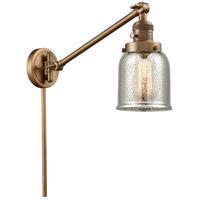 Innovations Lighting 237-BB-G58 Small Bell 30 inch 60 watt Brushed Brass Swing Arm Wall Light Franklin Restoration