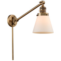Innovations Lighting 237-BB-G61-LED Small Cone 21 inch 3 watt Brushed Brass Swing Arm Wall Light