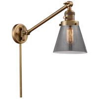 Innovations Lighting 237-BB-G63 Small Cone 21 inch 60 watt Brushed Brass Swing Arm Wall Light Franklin Restoration