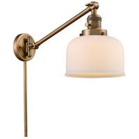 Innovations Lighting 237-BB-G71 Large Bell 21 inch 60 watt Brushed Brass Swing Arm Wall Light Franklin Restoration