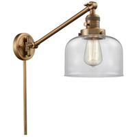Innovations Lighting 237-BB-G72 Large Bell 21 inch 60 watt Brushed Brass Swing Arm Wall Light Franklin Restoration