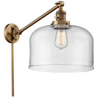 Innovations Lighting 237-BB-G72-L-LED X-Large Bell 12 inch 3.5 watt Brushed Brass Swing Arm Wall Light Franklin Restoration