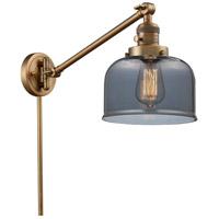 Innovations Lighting 237-BB-G73 Large Bell 21 inch 60 watt Brushed Brass Swing Arm Wall Light Franklin Restoration