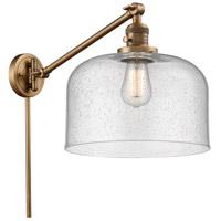 Innovations Lighting 237-BB-G74-L-LED X-Large Bell 12 inch 3.5 watt Brushed Brass Swing Arm Wall Light Franklin Restoration