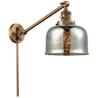 Innovations Lighting 237-BB-G78 Large Bell 30 inch 60 watt Brushed Brass Swing Arm Wall Light Franklin Restoration