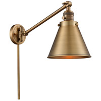 Innovations Lighting 237-BB-M13-BB Appalachian 18 inch 60 watt Brushed Brass Swing Arm Wall Light Franklin Restoration