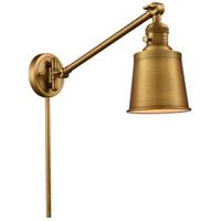 Innovations Lighting 237-BB-M9-BB Addison 21 inch 60 watt Brushed Brass Swing Arm Wall Light Franklin Restoration