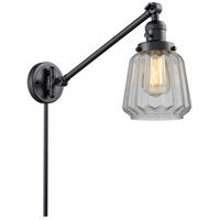 Innovations Lighting 237-BK-G142 Chatham 35 inch 60 watt Matte Black Swing Arm Wall Light Franklin Restoration