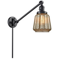 Innovations Lighting 237-BK-G146 Chatham 35 inch 60 watt Matte Black Swing Arm Wall Light Franklin Restoration