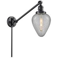 Innovations Lighting 237-BK-G165 Geneseo 35 inch 60 watt Matte Black Swing Arm Wall Light Franklin Restoration