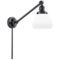 Innovations Lighting 237-BK-G171 Fulton 35 inch 60 watt Matte Black Swing Arm Wall Light Franklin Restoration