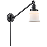 Innovations Lighting 237-BK-G181S Small Canton 35 inch 60 watt Matte Black Swing Arm Wall Light Franklin Restoration